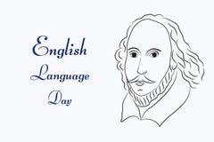Giorno di lingua inglese illustrazione vettoriale