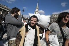 Giorno di lotta di cuscino Immagine Stock Libera da Diritti