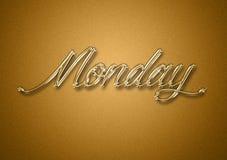 Giorno di lunedì dei precedenti di titolo dell'oro di settimana fotografia stock libera da diritti