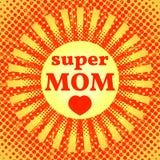 Giorno di madre felice Mamma eccellente Immagine Stock Libera da Diritti