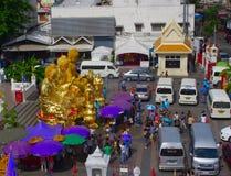 Giorno di madre a Wat Tramit Immagine Stock Libera da Diritti