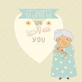 Giorno di madri felice Carta per la nonna illustrazione di stock