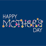 Giorno di madri felice di vettore Immagini Stock Libere da Diritti