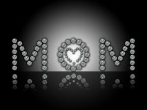 Giorno di madri felice, MAMMA Immagini Stock Libere da Diritti