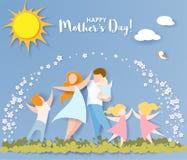 Giorno di madri felice stile del taglio della carta royalty illustrazione gratis