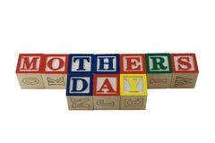 Giorno di madri nei blocchetti del alpabet insieme Immagine Stock