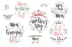 Giorno di madri Progettazione di iscrizione Immagine Stock