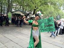 Giorno di maggio; Occupi Wall Street. Fotografia Stock