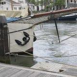 Giorno di molla piovoso a Rotterdam Immagini Stock Libere da Diritti