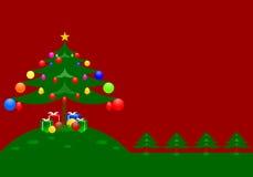Giorno di Natale felice illustrazione vettoriale