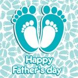 Giorno di padri felice Immagine Stock