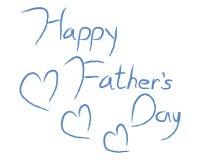 Giorno di padri felice Immagine Stock Libera da Diritti