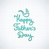 Giorno di padri felice Fotografie Stock
