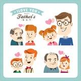 Giorno di padri felice Fotografie Stock Libere da Diritti