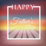 Giorno di padri felice del fondo Fotografia Stock Libera da Diritti
