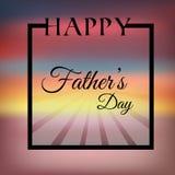 Giorno di padri felice del fondo Illustrazione di Stock
