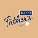 Giorno di padri felice di vettore Fotografia Stock