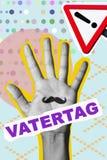 Giorno di padri in tedesco in un collage contemporaneo immagine stock
