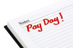 Giorno di paga Immagini Stock