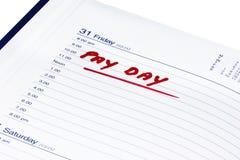 Giorno di paga Immagine Stock
