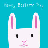 Giorno di Pasqua felice Bunny Face Fotografia Stock Libera da Diritti