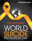 Giorno di prevenzione di suicidio del mondo illustrazione di stock