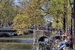 Giorno di primavera a Amsterdam Immagini Stock Libere da Diritti