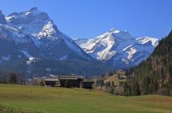 Giorno di primavera nel Bernese Oberland Fotografie Stock