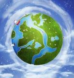 Giorno di primavera su pianeta Terra illustrazione vettoriale