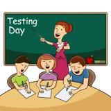 Giorno di prova dell'aula illustrazione di stock