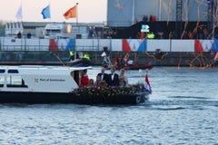 Giorno di re Willem-Alexander Crowning Fotografie Stock Libere da Diritti
