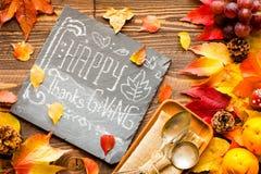 Giorno di ringraziamento, fondo delle foglie di autunno Fotografie Stock