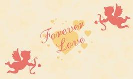 Giorno di S. Valentino con il tema romanzesco illustrazione di stock