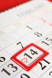 Giorno di S. Valentino del calendario Immagini Stock Libere da Diritti