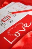 Giorno di S. Valentino del calendario Immagine Stock