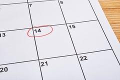 Giorno di S. Valentino della st nell'ordine del giorno Immagine Stock Libera da Diritti