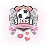 Giorno di S. Valentino e calcio felici illustrazione di stock