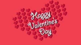 Giorno di S. Valentino felice con amore di animazione royalty illustrazione gratis