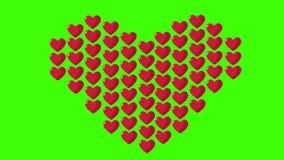 Giorno di S. Valentino felice con amore di animazione e lo schermo verde illustrazione vettoriale
