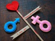 Giorno di S. Valentino, il 14 febbraio Fotografie Stock Libere da Diritti