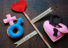 Giorno di S. Valentino, il 14 febbraio Fotografia Stock Libera da Diritti