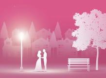 giorno di S. Valentino, nozze, arte di carta Immagine Stock