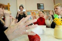 Giorno di salute - terapia occupazionale per il eldery Fotografia Stock Libera da Diritti