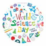 Giorno di scienza del mondo Immagine Stock Libera da Diritti