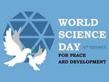 Giorno di scienza del mondo per il fondo di sviluppo e di pace royalty illustrazione gratis