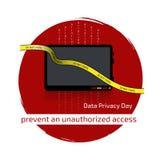 Giorno di segretezza di dati fotografia stock