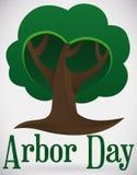Giorno di Serene Tree Shape Promoting Arbor, illustrazione di vettore illustrazione di stock