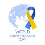 Giorno di sindrome di Down del mondo Immagine Stock Libera da Diritti