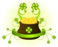 Giorno di St Patrick del vaso Immagini Stock