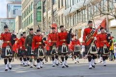 Giorno di St.Patrick a Montreal. Fotografia Stock
